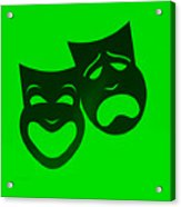 Comedy N Tragedy Neg Green Acrylic Print