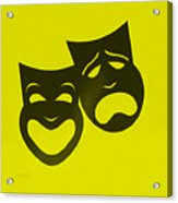 Comedy N Tragedy Neg Yellow Acrylic Print