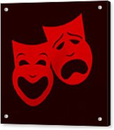 Comedy N Tragedy Red Acrylic Print