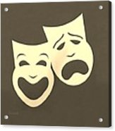 Comedy N Tragedy Sepia Acrylic Print