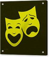 Comedy N Tragedy Yellow Acrylic Print
