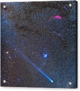 Comet Lovejoys Long Ion Tail In Taurus Acrylic Print