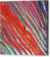 Comet Tail. Colorful Painter Palette. Exhausted Paint And Abstract Painting. Acrylic Print