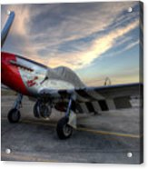 Comfortably Numb Buttoned Up For The Night At The Hollister Airshow Acrylic Print