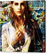 Comic Girl Acrylic Print