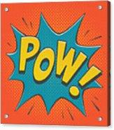 Comic Pow Acrylic Print