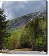 Comin Around The Bend In Campton New Hampshire Acrylic Print
