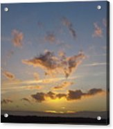 Commencement Bay Sunset Acrylic Print