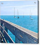 Commercial Pier On Monterey Bay-california  Acrylic Print