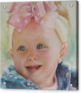 Commissioned Toddler Portrait Acrylic Print