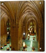 Commons Room Cathedral Of Learning - University Of Pittsburgh Acrylic Print by Amy Cicconi