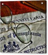 Commonwealth Of Pennsylvania Acrylic Print