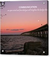 Communication Acrylic Print by Pathways Life  Coaching