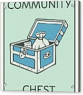 Community Chest Vintage Monopoly Board Game Theme Card Acrylic Print