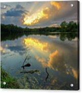 Community Lake #8 Sunset Acrylic Print