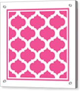 Compact Marrakesh With Border In French Pink Acrylic Print