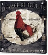 Compagne IIi Rooster Farm Acrylic Print