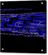 Compartmental Blues Acrylic Print