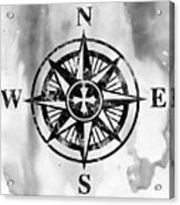 Compass-black Acrylic Print
