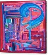 Composicion Azul Acrylic Print