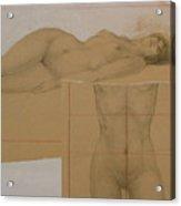 Composite Female Nude Acrylic Print