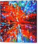 Composition # 2. Series Abstract Sunsets Acrylic Print