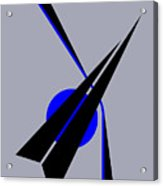 Composition Black Arrow Acrylic Print