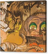 Composition Green Eye Acrylic Print