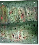 Composition In Green Acrylic Print