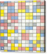 Composition With Grid Ix Acrylic Print