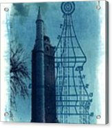 Compton Blueprint Acrylic Print