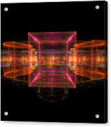 Computer Generated 3d Abstract Fractal Flame Modern Art Acrylic Print