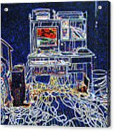 Computers And Wires Acrylic Print