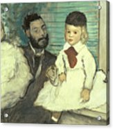 Comte Le Pic And His Sons Acrylic Print by Edgar Degas