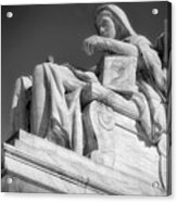 Comtemplation Of Justice 1 Bw Acrylic Print