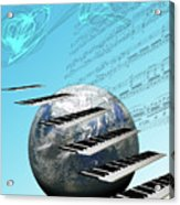 Conceptual Music World  Acrylic Print