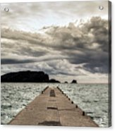 Concrete Pier Off-season Acrylic Print