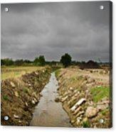 Concrete River 2 Acrylic Print by Matthew Angelo
