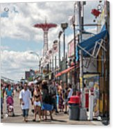 Coney Island Boardwalk II Acrylic Print