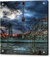 Coney Island Acrylic Print by Bryan Hochman