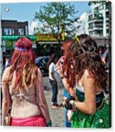 Coney Island Girls Acrylic Print