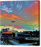Coney Island In Living Color Acrylic Print
