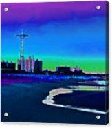 Coney Island Parachute Jump And Beach Acrylic Print