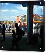 Coney Island Stroll Acrylic Print