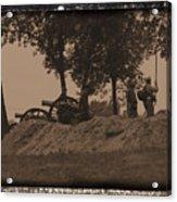 Confederate Artillery Battery Acrylic Print
