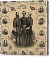 Confederate Generals Of The Civil War Acrylic Print