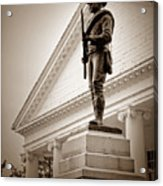 Confederate Memorial In Sepia Tone Acrylic Print