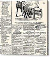 Confederate Newspaper Acrylic Print