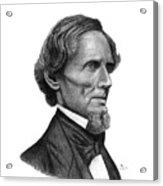 Confederate President Jefferson Davis Acrylic Print
