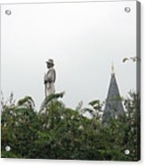 Confederate Soldier Standing Tall Acrylic Print